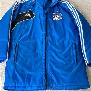 Adidas Sz L San Jose Earthquakes puffer Jacket